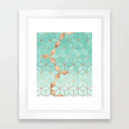Soft Gradient Aquamarine Framed Art Print
