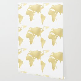 Gold Rush Map of the World Wallpaper