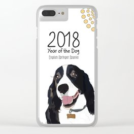 Year of the Dog - English Springer Spaniel Clear iPhone Case