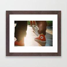 Converse Framed Art Print