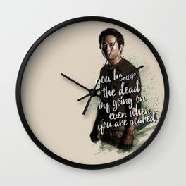 You honor the dead by going on... - Glenn Rhee Wall Clock