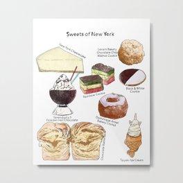 Sweets of New York Metal Print