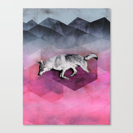 The Wolf Geometry Canvas Print