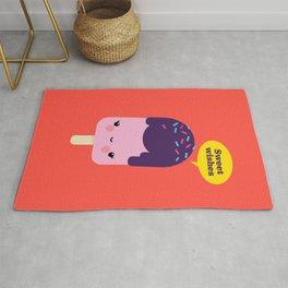 Sweet Wishes Kawaii Ice Cream Illustration Rug