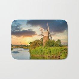 Windmill on River Ant Bath Mat