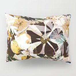 Painted dry pressed flowers Pillow Sham