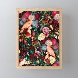 Floral and Animals pattern II Framed Mini Art Print