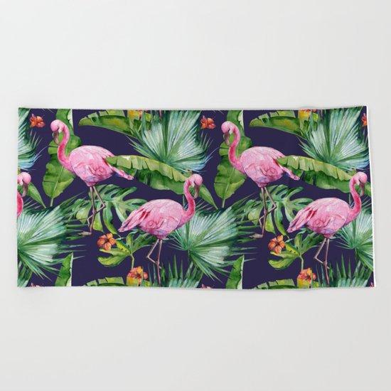 Tropical Summer #society6 Beach Towel