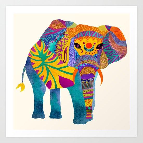 Whimsical Elephant Art Print