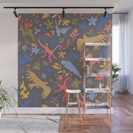 Frida Menagerie in Studio Wall Mural