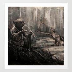 Yoda on Dagobah Art Print