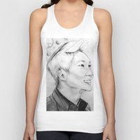 shinee Tank Tops featuring Onew_King by Roxie33
