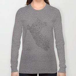 Mapa Peru Long Sleeve T-shirt