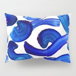 Blue paint strokes pattern Pillow Sham