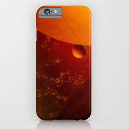 Reddish circles of pearly reddish colors. iPhone Case