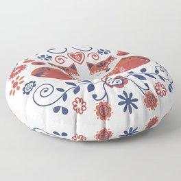 Scandi Folk Foxes Floor Pillow