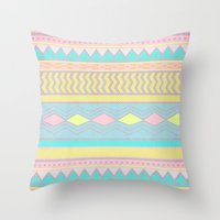 egyptian Throw Pillows featuring Egyptian II by Louise Machado