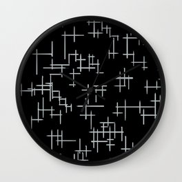 Bird Boy Pattern Wall Clock