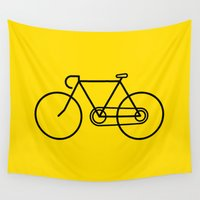 bicycle Wall Tapestries featuring Bicycle by Luke Turner