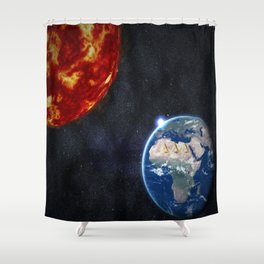 Sun, Ankh, Earth, Stars. Shower Curtain
