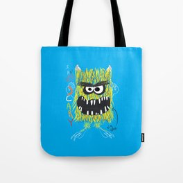 Monster, Monster with big teeth, boy art, kids art Tote Bag