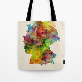 Germany Watercolor Map (Deutschland) Tote Bag