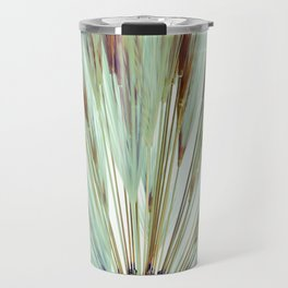 Wheat Sunburst Teal Travel Mug