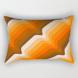 Golden Wave Rectangular Pillow