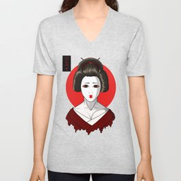 The Geisha Unisex V-Neck