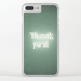 Thank You! Neon Art Installation Clear iPhone Case