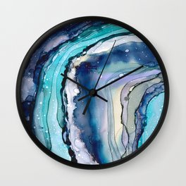 Geode Art Wall Clock