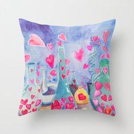 Love Lab Throw Pillow