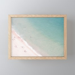 beach - summer of love Framed Mini Art Print