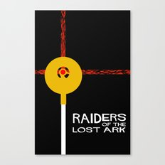 Raiders of the Lost Ark Minimal Movie Poster Canvas Print