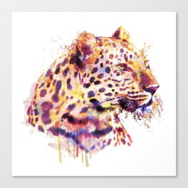 Leopard Head Canvas Print