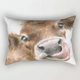 Face baby cattle Rectangular Pillow