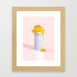 Golden Misery Framed Art Print