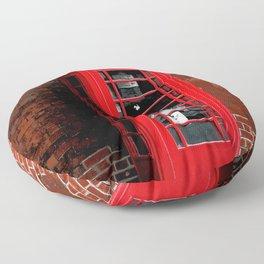 Red Phone Box- London England UK Floor Pillow