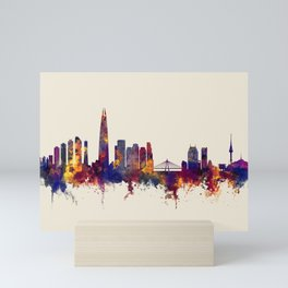 Seoul Skyline South Korea Mini Art Print