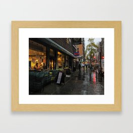 University Place in Rain Framed Art Print