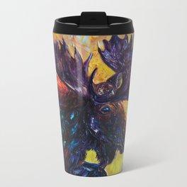 Moose by OLena Art Travel Mug