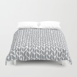 Hand Knit Zoom Grey Duvet Cover
