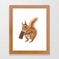 Super squirrel. Framed Art Print