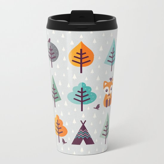 FOX IN THE FOREST Metal Travel Mug