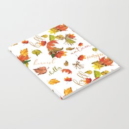 Autumn Leaves Hello Fall! Notebook