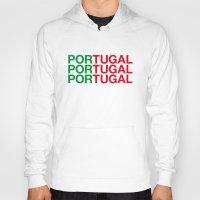 portugal Hoodies featuring PORTUGAL by eyesblau