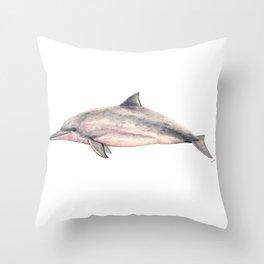 Tucuxi (Sotalia fluviatilis) Throw Pillow