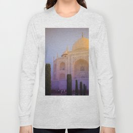 Morning Colors over Taj Mahal Long Sleeve T-shirt