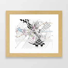 Playing the Game Framed Art Print