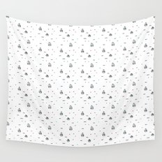 boats subtle pattern Wall Tapestry